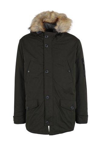 Geaca parka verde barbateasca de iarna Burton Menswear London