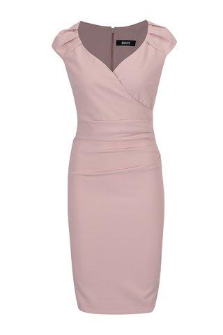 Rochie roz pal cu fronseuri ZOOT