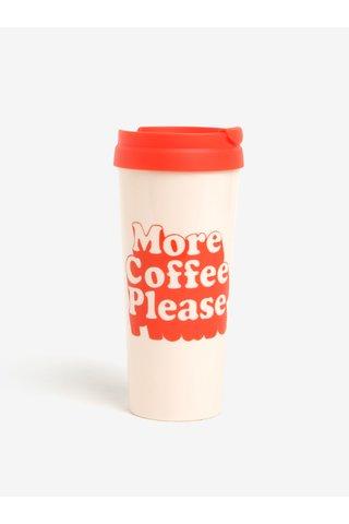 Pahar de calatorie termorezistent roz & rosu cu mesaj si fara BPA - ban.dō 470 ml