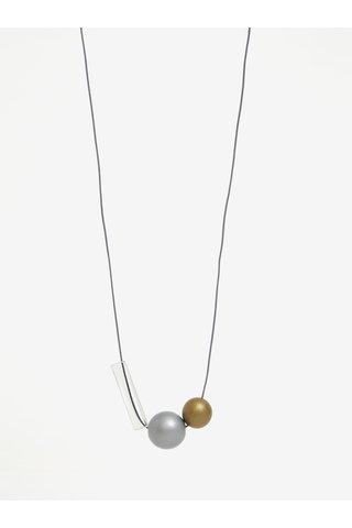 Náhrdelník ve zlaté a stříbrné barvě KO-RA-LE Ball