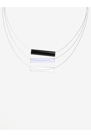 Colier handmade cu pandantive tubulare albastre din sticla -  KO-RA-LE Tri