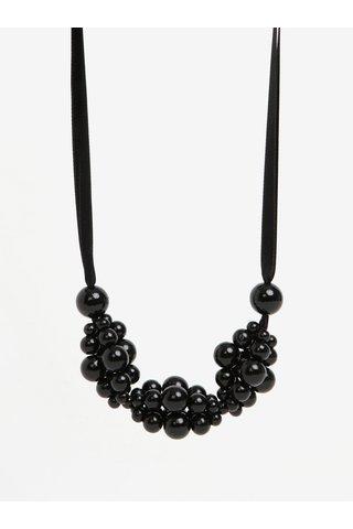 Černý dřevěný náhrdelník KO-RA-LE Wav
