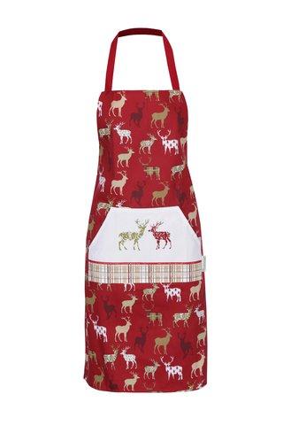 Sort rosu cu buzunar kangaroo si print cu reni - Cooksmart