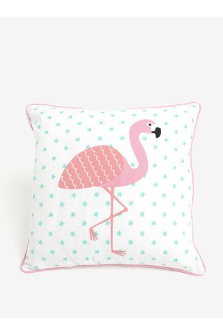 Perna alba cu print flamingo - Sass & Belle