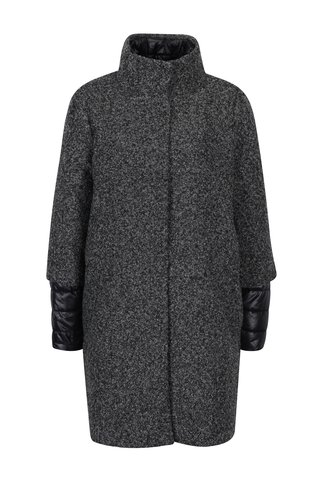 Palton gri inchis cu jacheta interioara matlasata VERO MODA Double