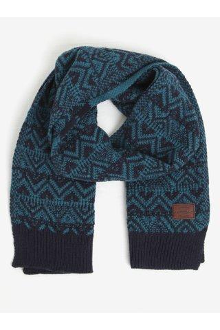 Fular albastru & negru din amestec de lana - O'Neill