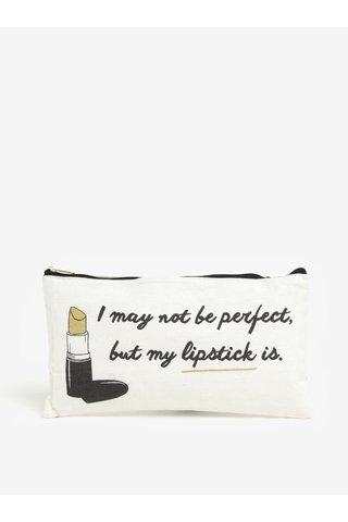 Krémová kosmetická taštička s potiskem CGB Lipstick