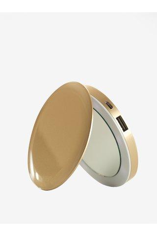 Power banka se svítícím zrcátkem ve zlaté barvě Hyper Pearl