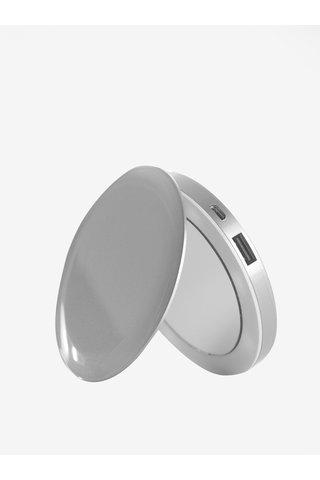 Power banka se svítícím zrcátkem ve stříbrné barvě Hyper Pearl