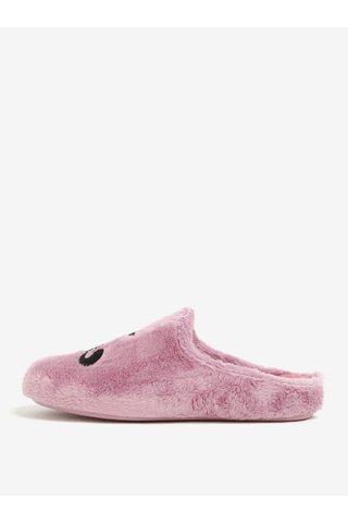 Papuci roz de casa din plus cu brant si talpa moale - OJJU
