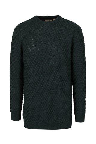 Pulover verde tricotat din amestec de lana pentru barbati - JP 1880
