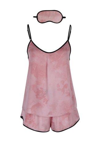 Pijama roz cu masca de dormit - DKNY