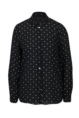 Camasa neagra cu buline si maneci ajustabile - Dorothy Perkins