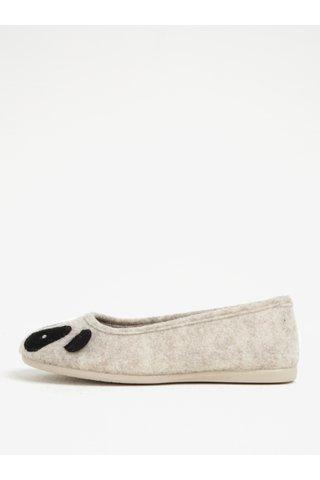 Papuci de casa cu model panda