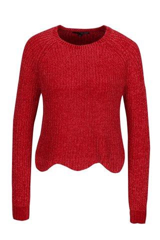Pulover tricotat rosu cu terminatie ondulata -  TALLY WEiJL