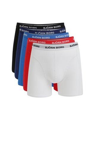 Sada pěti boxerek v modré, bílé, černé a červené barvě Björn Borg