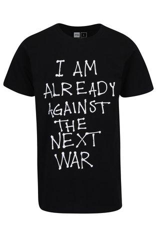 Tricou negru cu mesaj Dedicated Stockholm Next War