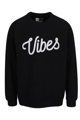 Bluza neagra cu print text Dedicated Malmoe Vibes