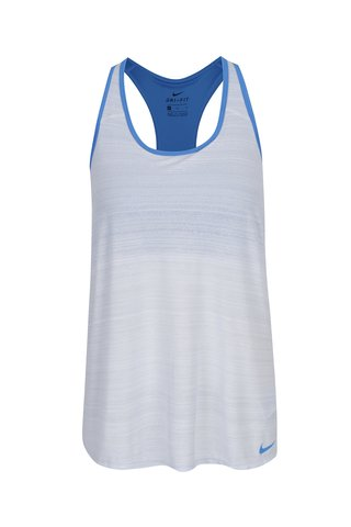Top sport crem&albastru cu bustier incorporat Nike