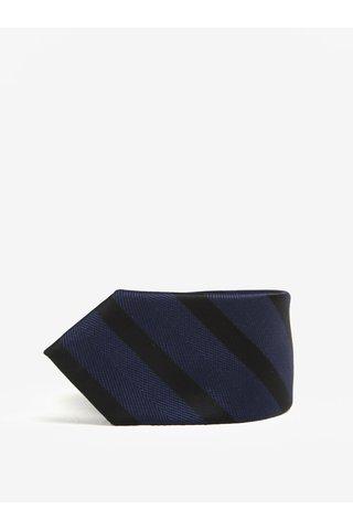 Cravata bleumarin & negru cu model in dungi - Selected Homme Xin Tie
