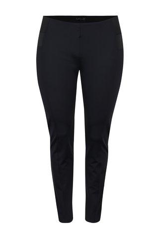 Pantaloni negri cu talie medie elastica La Lemon