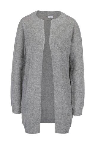 Cardigan tricotat gri melanj -  Jacqueline de Yong Day light