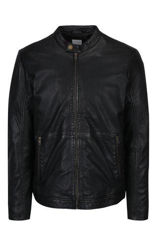 Černá kožená bunda Lindbergh