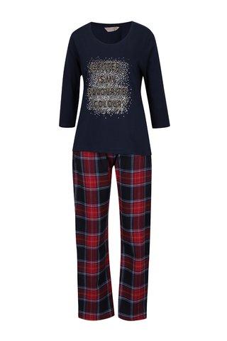 Tmavě modré kostkované pyžamo Dorothy Perkins