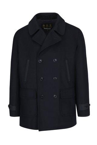 Tmavě modrý vlněný pánský kabát Barbour Carr