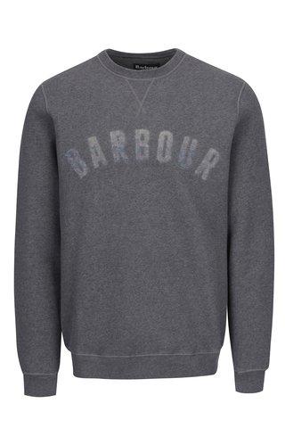 Bluza gri cu print logo Barbour Logo Sweat