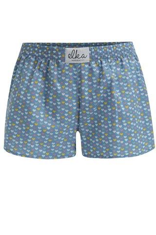 Modré dámské trenky se srdíčky El.Ka Underwear