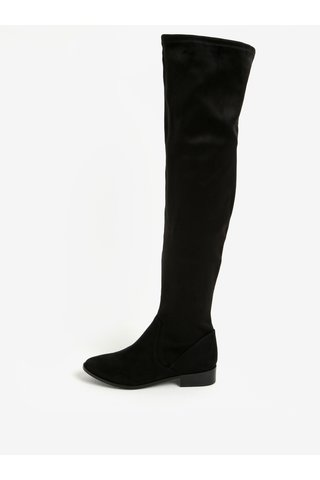 Černé vysoké kozačky v semišové úpravě ALDO Elinna