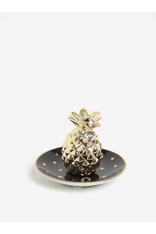 Suport auriu & negru pentru bijuterii  - Sass & Belle