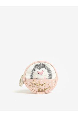 Geanta alb & roz pentru cosmetice cu print - Disaster Over the Moon Hedgehog