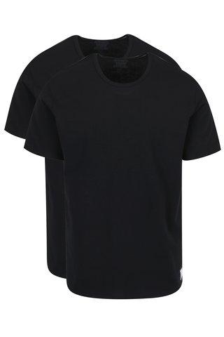 Set de 2 tricouri slim fit negre pentru barbati - Calvin Klein