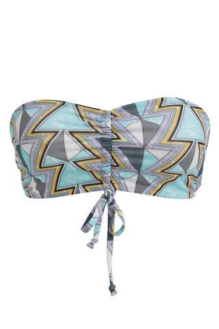 Sutien de baie cu print geometric turcoaz - Noisy May Amazon