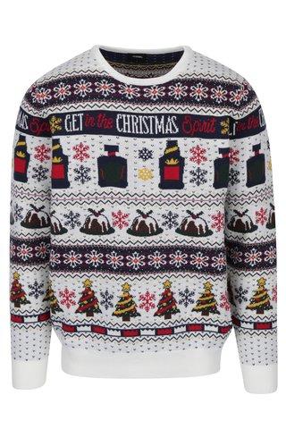 Krémový svetr s vánočním motivem Burton Menswear London