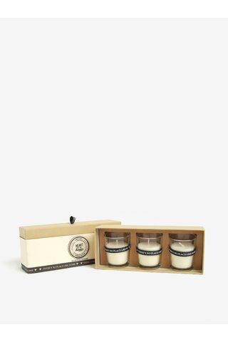 Set cadou de 3 lumanari cu miros de floare de bumbac - SIFCON