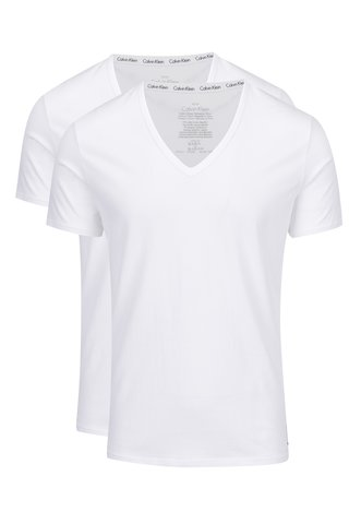 Sada dvou trik pod košili v bílé barvě Calvin Klein