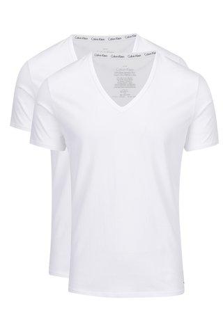 Set de 2 tricouri basic albe pentru barbati - Calvin Klein