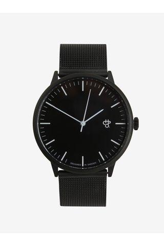 Ceas negru unisex analogic CHPO Nando Noir