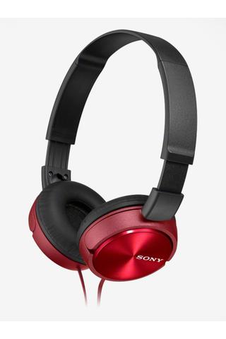 Červená skládací sluchátka Sony