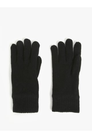 Manusi negre cu amestec de lana pentru barbati - GANT
