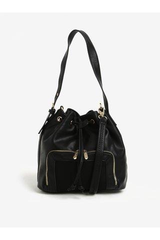 Geanta bucket neagra cu detalii aurii -  Bessie London