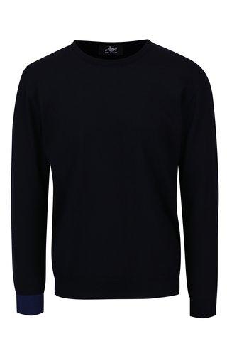 Tmavě modrý svetr z merino vlny Live Sweaters