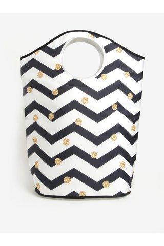 Cos textil pentru rufe cu print geometric si buline - Butter Kings