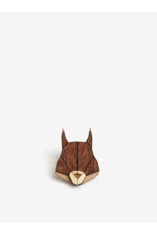 Brosa din lemn in forma de veverita - BeWooden Squirrel Brooch