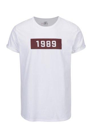 Tricou alb din bumbac organic cu print pentru barbati - ZOOT Original 1989