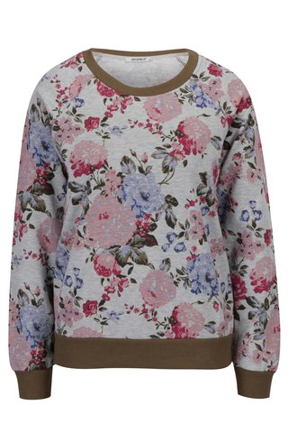 Bluza gri cu print floral  Haily's Lilian