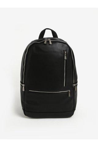 Černý batoh se zipy ve stříbrné barvě Bobby Black